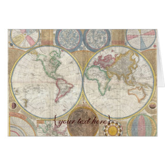 Historic Old World Map, 1794 - blank Card