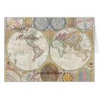 Historic Old World Map, 1794 - Happy Birthday Card