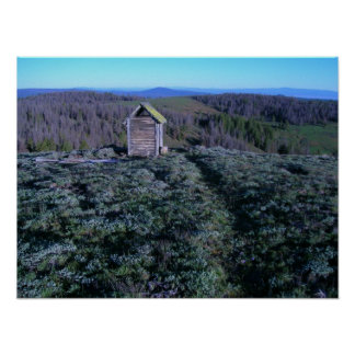 Historic Outhouse, at Bald Butte Fire Lookout Poster