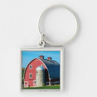 Historic Red Barn - Palouse Region - Washington Silver-Colored Square Keychain