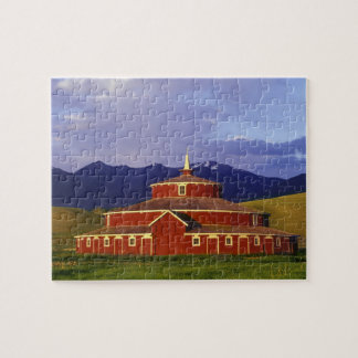 Historic Round Barn at Twin Bridges Montana Jigsaw Puzzle
