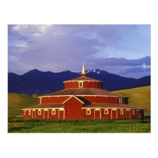 Historic Round Barn at Twin Bridges Montana Postcard