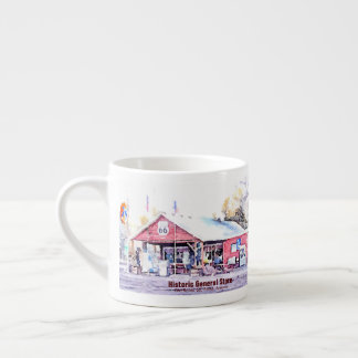 Historic Route 66 Arizona General Store Watercolor Espresso Cup