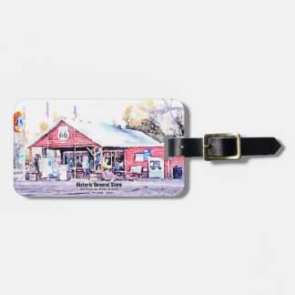 Historic Route 66 Arizona General Store Watercolor Luggage Tag