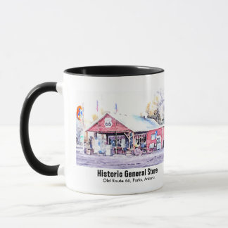 Historic Route 66 Arizona General Store Watercolor Mug