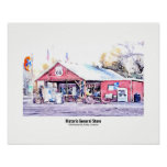 Historic Route 66 Arizona General Store Watercolor Poster