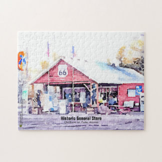 Historic Route 66 Arizona General Store Watercolor Puzzle