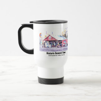 Historic Route 66 Arizona General Store Watercolor Travel Mug