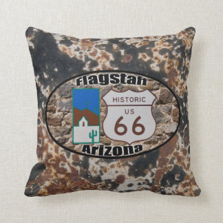 Historic Route 66 ~ Flagstaff, Arizona Throw Pillow