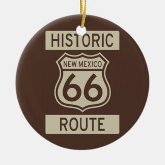 Historic Route 66 New Mexico Ceramic Ornament