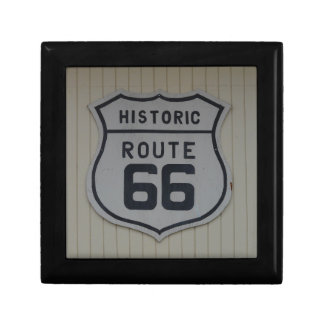 Historic Route 66 retro sign Trinket Boxes