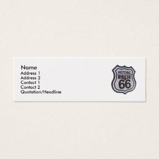 Historic Route 66 Skinny Profile Card