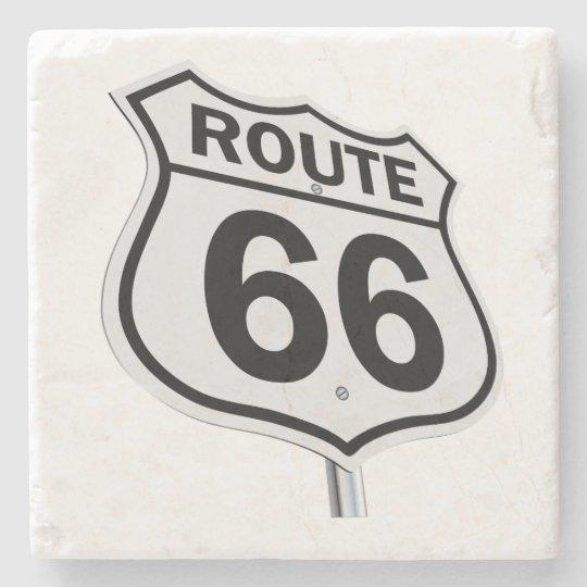 Historic Route 66 Stone Beverage Coaster
