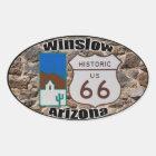 Historic Route 66 Winslow, Arizona Oval Sticker