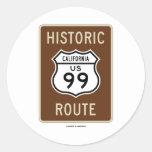 Historic Route US Highway 99 (California) Round Sticker