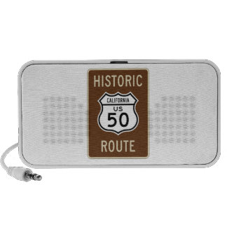 Historic Route US Route 50 California Sign Travel Speaker