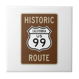 Historic Route US Route 99 (California) Sign Tile