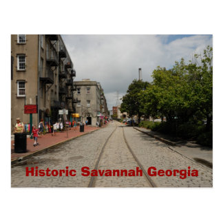 Historic Savannah Georgia Postcard