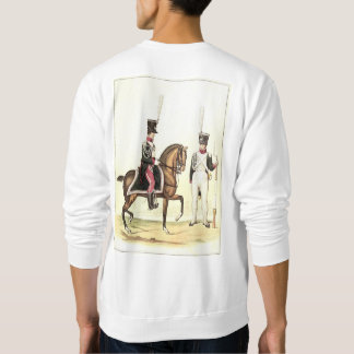 Historic scene with horse guards awaiting Napoleon Sweatshirt