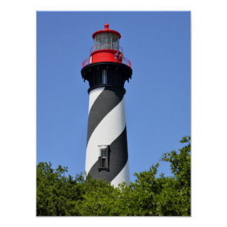 Historic St. Augustine, Florida Lighthouse Poster