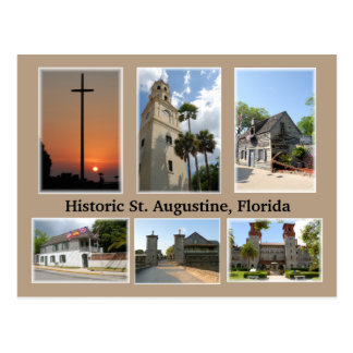 historic st augustine florida postcard