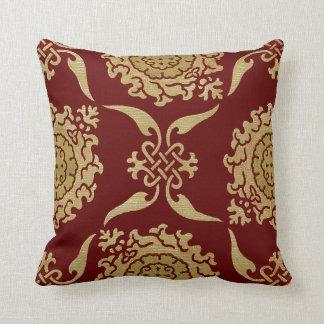 Historic Textile #10 @ SunshineDazzle Throw Pillow