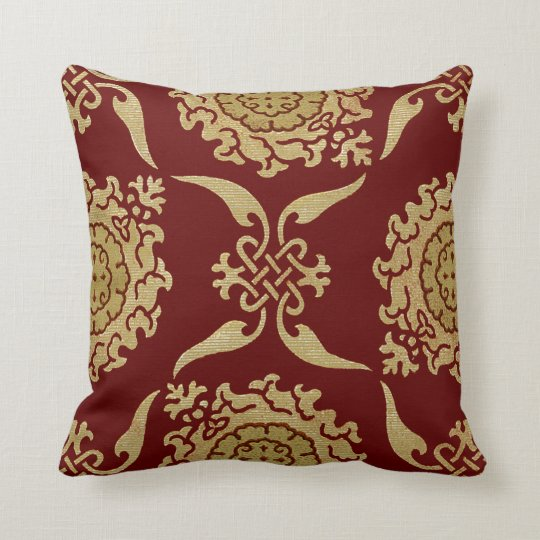 Historic Textile #10 @ SunshineDazzle Throw Pillow