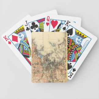 Historic topographic map of Boston, MA Bicycle Playing Cards
