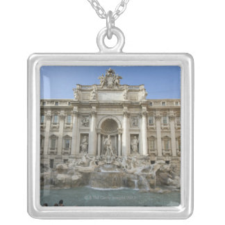 Historic Trevi Fountain in Rome, Italy Silver Plated Necklace