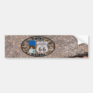 Historic US Route 66 Parks Arizona Bumper Sticker