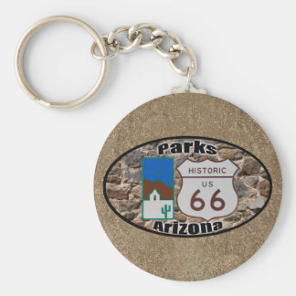 Historic US Route 66~Parks, Arizona Keychain