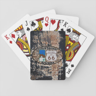 Historic US Route 66 ~ Peach Springs, Arizona Playing Cards