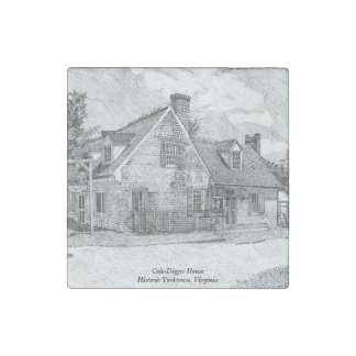 Historic Yorktown VA - Cole-Digges House Stone Magnets