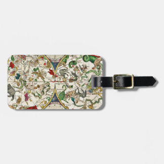 Historic Zodiac Map, 1670 Luggage Tag