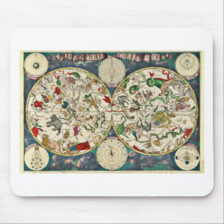 Historic Zodiac Map, 1670 Mouse Pad