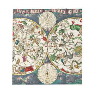 Historic Zodiac Map, 1670 Notepad