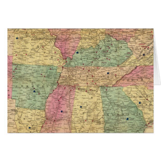 Historical and Military Map of the US Cards