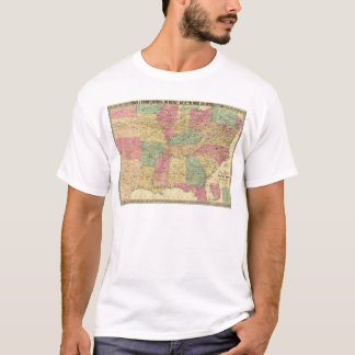 Historical and Military Map of the US T-Shirt