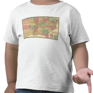 Historical and Military Map of the US T-shirts