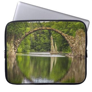 Historical bridge east germany laptop sleeve