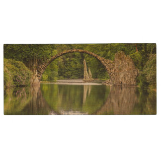 Historical bridge east germany wood USB flash drive