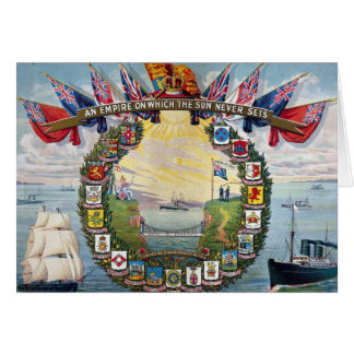 Historical British Colonies Crests Nautical Card