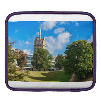 Historical building in Rostock iPad Sleeve