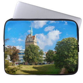 Historical building in Rostock Laptop Sleeve
