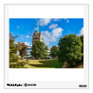 Historical building in Rostock Wall Sticker