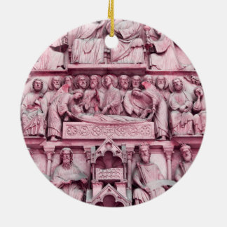 Historical, Christian sculptures Notre Dame Paris Ceramic Ornament