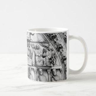 Historical, Christian Sculptures Notre Dame Paris Coffee Mug