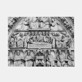 Historical, Christian Sculptures Notre Dame Paris Doormat