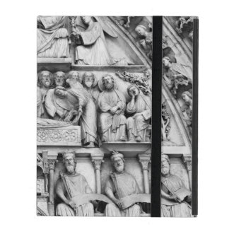 Historical, Christian Sculptures Notre Dame Paris iPad Cover