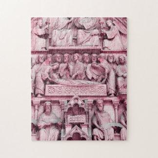 Historical, Christian sculptures Notre Dame Paris Jigsaw Puzzle